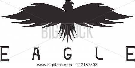 Abstract Vector Design Template Of Bird Eagle
