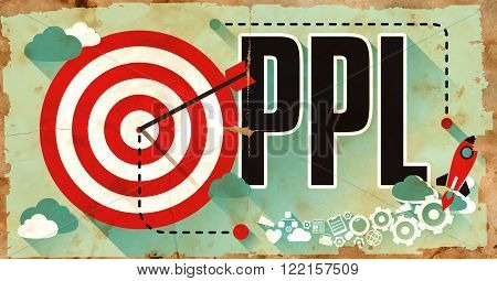 PPL - Pay Per Lead - Concept. Poster in Flat Design. Business Concept.