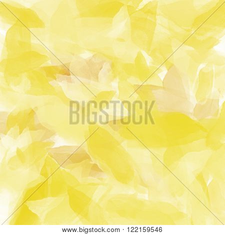 White and yellow abstract digital painted background