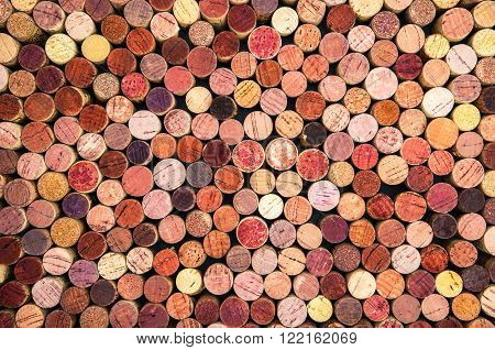 a great background of colorful wine corks