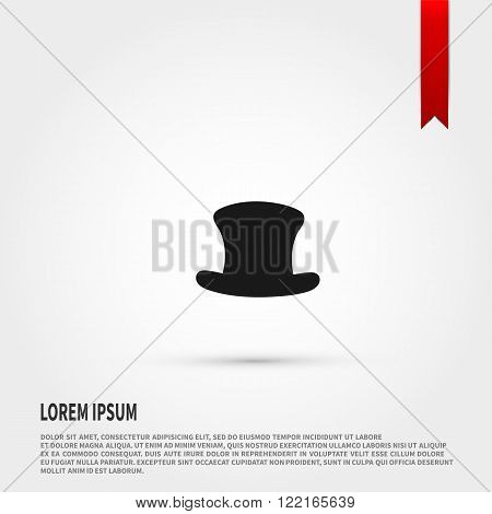 Top hat icon  icon. Top hat icon  symbol. Flat design style. Template for design.