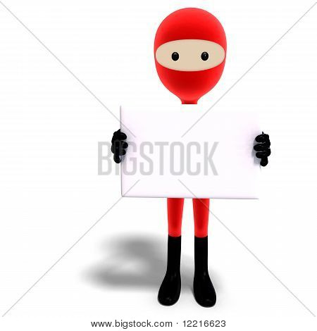funny and cute cartoon hero with mask