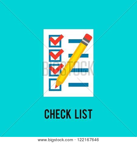 Chek List Icon. To Do List. Delivery Sheet. Paper With Pencil