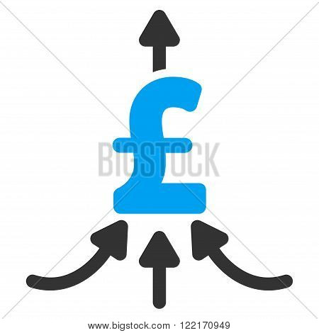 Pound Financial Aggregator vector icon. Pound Financial Aggregator icon symbol. Pound Financial Aggregator icon image. Pound Financial Aggregator icon picture. Pound Financial Aggregator pictogram.