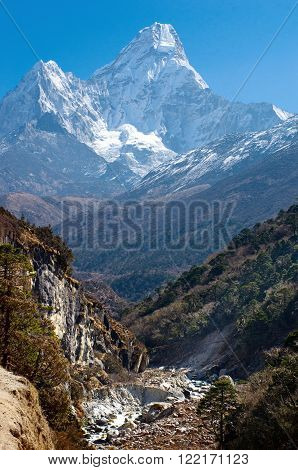 Ama Dablam Massif , Nepal Himalayas