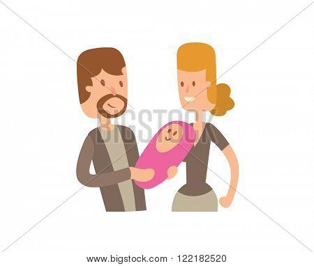 Family portrait vector illustration. Family portrait vector isolated on white background. Family portrait vector icon illustration. Family portrait vector isolated vector. Family portrait vector flat