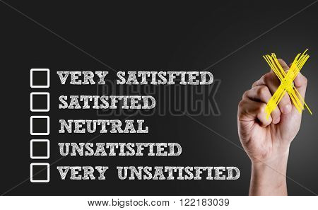 Survey with Blank space: Very Satisfied - Satisfied - Neutral - Unsatisfied - Very Unsatisfied