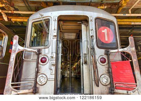 Bronx New York - January 31 2016: 240th Street Train Yard (Van Cortlandt Yard) for maintenance of trains.