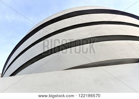 New York City - January 31 2016: The famous Solomon R. Guggenheim Museum of modern and contemporary art in New York City USA