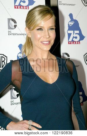 Julie Benz arrives at the DC Entertainment and Warner Bros.Superman 75th anniversary party during San Diego Comic-Con at the Hard Rock Hotel San Diego's Float Bar on July 19, 2013 in San Diego, CA.