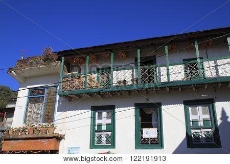 Old farmer house in Kathmandu Valley in Nepal