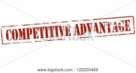 Rubber stamp with text competitive advantage inside vector illustration