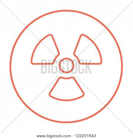 Ionizing radiation sign line icon. poster