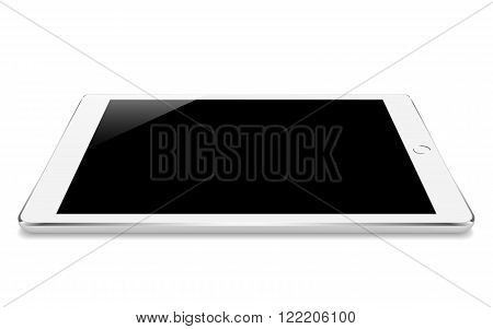 mock up white tablet like in ipades style perspective angle isolated on white vector design