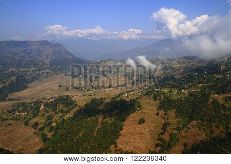 Above The Clouds In Nepalese Town Nagarkot