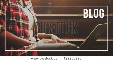 Blog Blogging Messaging Social Media Online Concept