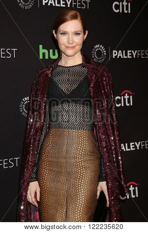 LOS ANGELES - MAR 15:  Darby Stanchfield at the PaleyFest Los Angeles - Scandal at the Dolby Theater on March 15, 2016 in Los Angeles, CA