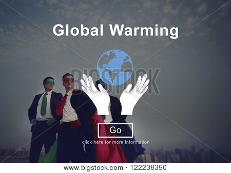 Global Warming Climate Change Environmental Website Concept poster
