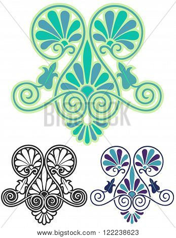 Art Nouveau inspired by ancient Greek ornament, with variations