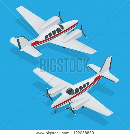 Vector illustration of a airplanes. Airplane flight. Plane icon. Airplane vector. Plane 3d flat vector illustration.