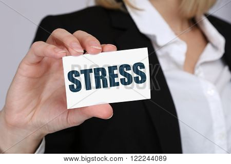 Stress Stressed Business Woman Burnout At Work Concept