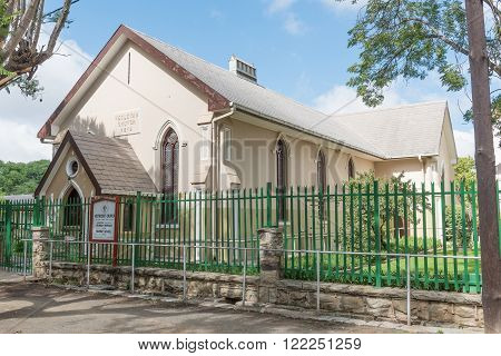 CRADOCK, SOUTH AFRICA - FEBRUARY 19, 2016: The Wesleyan Methodist Church Cradock was built in 1849. Cradock is a medium sized town in the Eastern Cape Province