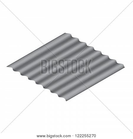 Asbestos roof vector. Stock vector. Vector illustration.