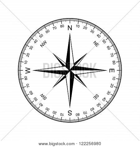 image of compass vector isolated on white background