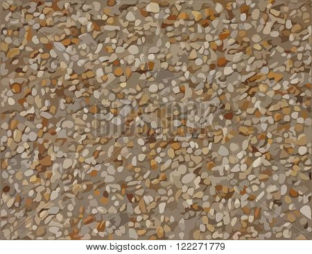 Stone pebbles plaster vector texture or background