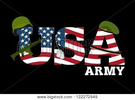 United States Army. Military Equipment Of America. Logo For American Army. Amrik Flag. Automatic And