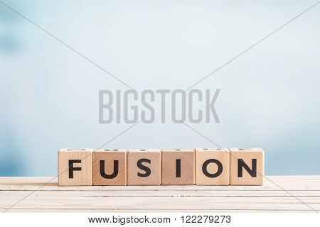 Fusion Message Made Of Wood