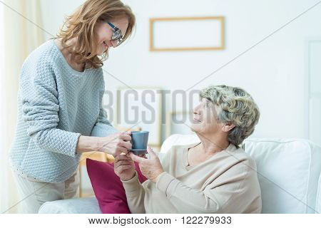 Taking Care Of Old Mother
