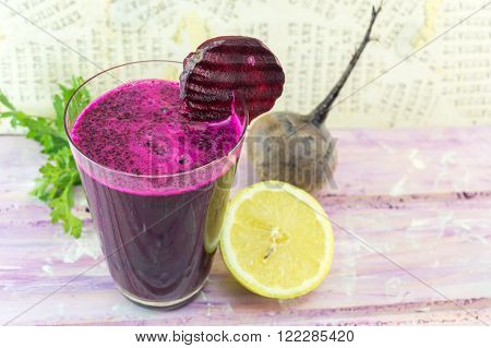 Beetroot Juice In A Glass