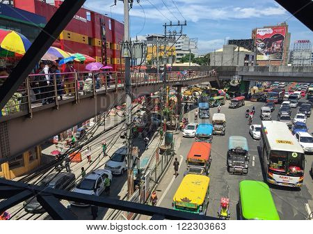 Manila, Philippines - July 19, 2015 : Taft Avenue-EDSA intersection in Pasay Manila