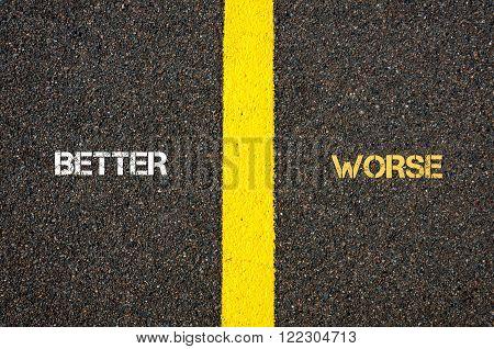 Antonym Concept Of Better Versus Worse