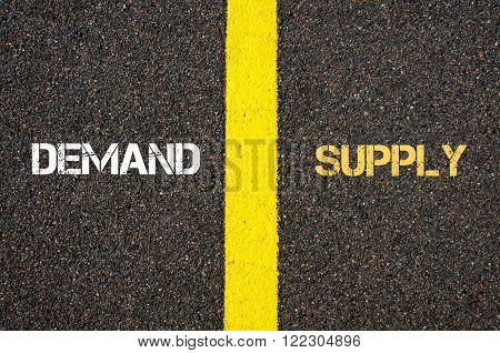 Antonym Concept Of Demand Versus Supply