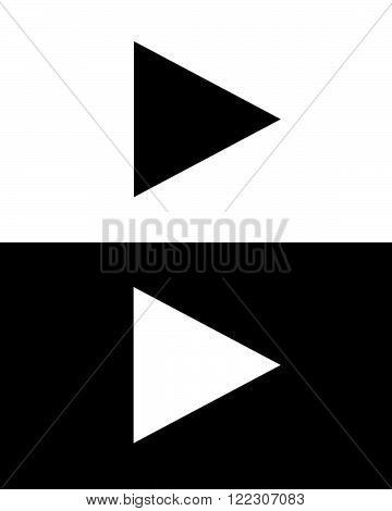 Vector Play Button Set in Black and White
