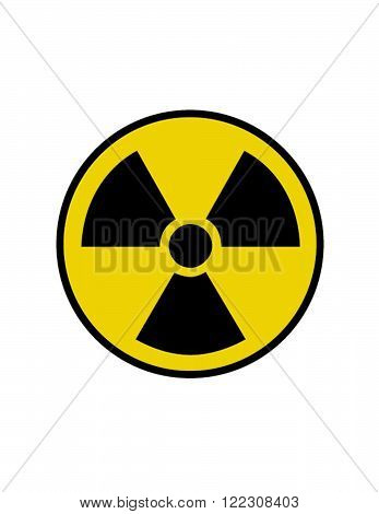 Vector Radiation Symbol and Icon in Colour