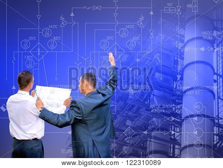Industrial engineering technology.Manufacturing engineering designing concept background