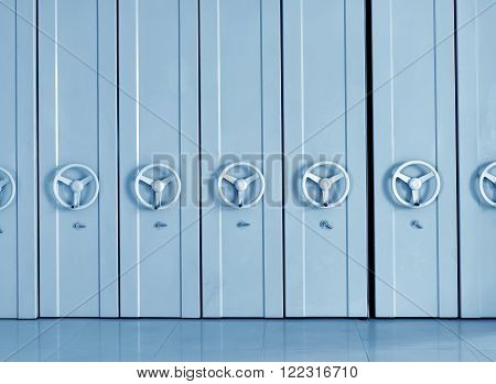 Offices, banks, office neatly placed files safe