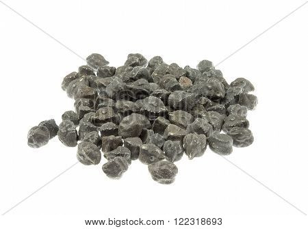 Black chickpeas (garbanzo) isolated on white background