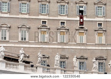 Pope Francis I Holding The Angelus Prayer And Speech At The Vatican City