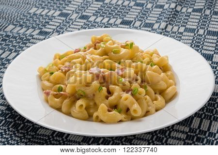 Macaroni And Cheese On Table