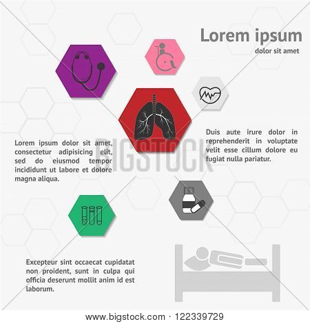 Medical Infographic template. Healthcare Related Colorful Icons. Can be used for brochure flyer website etc.