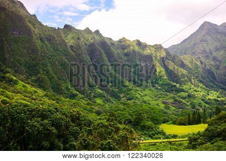Ko'olau mountain range, windward Oahu Island, Hawaii