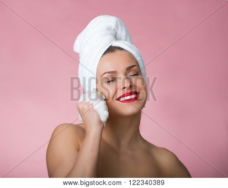 Beautiful Woman Having A Bath
