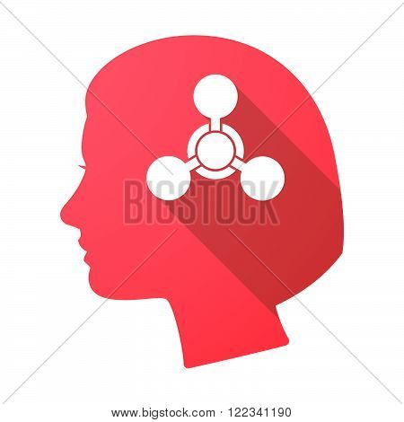 Long Shadow Female Head With A Chemical Weapon Sign