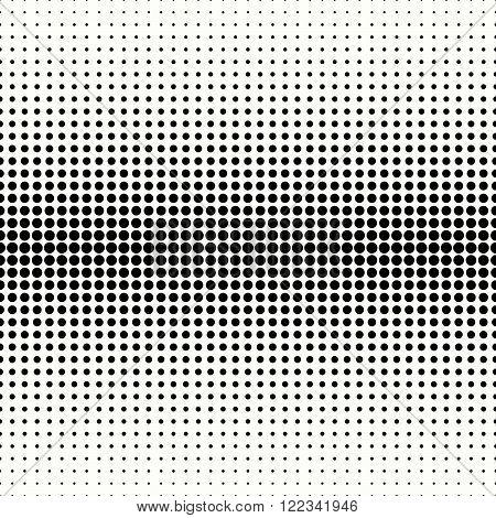 Abstract typographical halftone background - vector seamless pattern