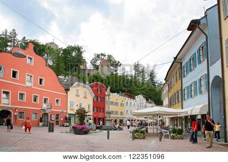 BRUNICO, ITALY - AUGUST 03, 2011 - Glimpses of the beautiful town of South Tirol