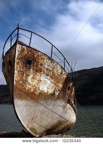 Old rusted ship